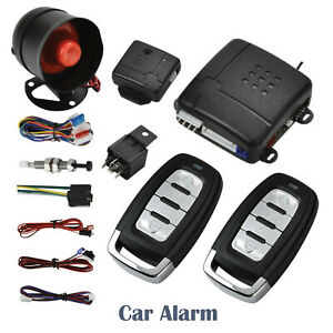 Car Security Alarm System 2 Remotes Central Locking Kit Immobiliser Anti theft