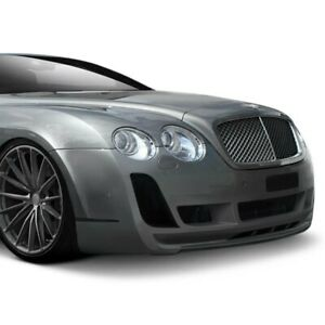 For Bentley Continental 03 10 Af 2 Style Fiberglass Front Bumper Cover Unpainted