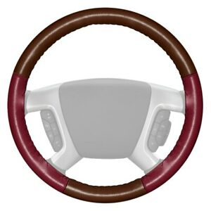 For Dodge Ram 3500 94 97 Steering Wheel Cover Eurotone Two color Brown Steering