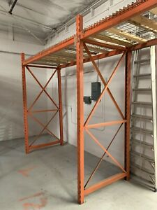 Pallet Rack Upright 10 8 X 46 42 horizontal Beam 102 15 wire Decking 8
