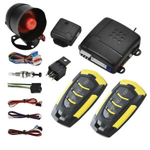 New Car Alarm 2 Door Remote Central Locking Kit With Shock Sensor Immobiliser