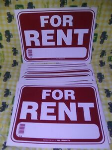 20 For Rent Red White Signs 9 X 12 Flexible Apartment house