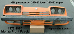 Chevy Monza 1975 1980 Front Fascia Bumper Upper And Lower 342682 342683