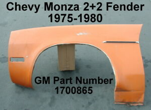 Chevy Monza 2 2 1975 1980 Fender Panel 1700865 Lh Drivers Side