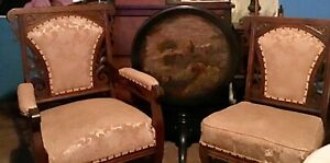 Antique Victorian Eastlake 4 Piece Set Parlor Set Love Seat And 2 Chairs