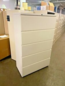 5dr 36 w X 19 d X 60 h Lateral File Cabinet By Haworth Office Furniture In White
