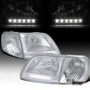 For Ford 1997 2003 F150 1997 2002 Expedition Clear Led Head Lights Corner Lamps
