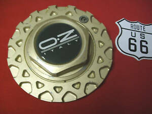 Oz O z Italy Msw Gold Honeycomb Wheel Center Cap part M249 On Back Of Hub