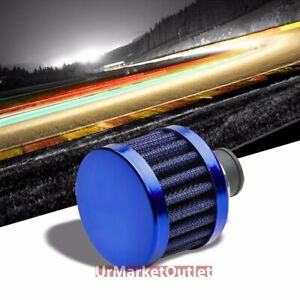 Blue Universal 9mm Oil Crankcase Valve Vent Straight Round Air Filter breather