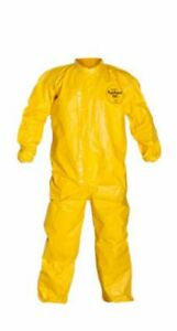 Dupont Tychem Qc Yellow Xl Coveralls With Laydown Collar And Qc125