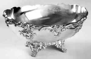 Reed Barton King Francis Silverplate Oval Footed Centerpiece 1963307