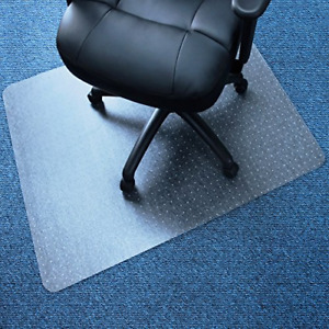 Rectangular Chair Mat Very Low Pile Carpets Transparent Smooth Easy Glide Sur