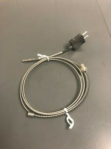 Type J Thermocouple Adjustable Depth Bayonet Spring 48 Overall Mini Plug