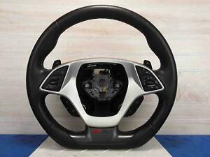 2015 2019 C7 Corvette Z51 Steering Wheel W Media Cruise Controls Leather Paddle