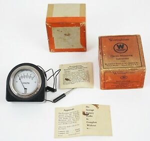 Westinghouse Voltmeter Style 490829 Type Pt Gauge New In Box Vintage a