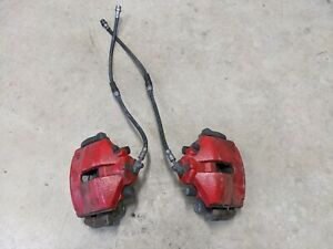 Vw Jetta Beetle Golf Eos Audi A3 Front Brake Calipers Red For 288mm Rotor