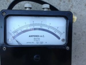 Analog Ac Ampere Meter Rang 0 5a 0 10a Weston Electrical Instrument