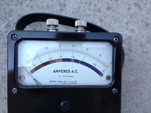 Analog Ac Ampere Meter Rang 0 2 5 A 0 5 A Weston Electrical Instrument