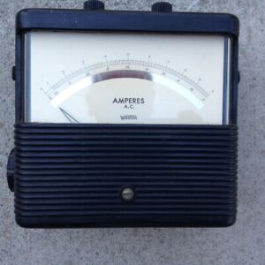 Analog Ac Ampere Meter Rang 0 0 5 A 0 1 A weston Electrical Instrument