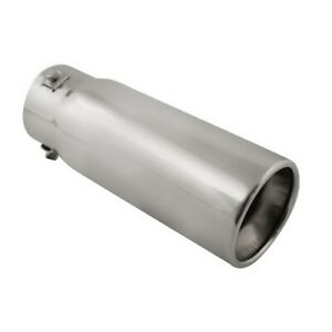 Stainless Steel Resonated Bolt On Muffler Exhaust Tip 1 3 4 2 5 Inlet