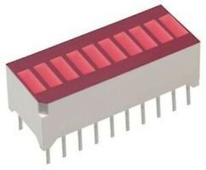 Nte Electronics Nte3115 Bar Graph 10 led Red 35mcd 750mw 10 Pieces