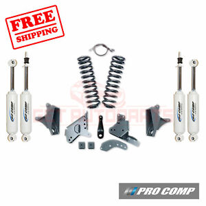 Pro Comp 4 Lift Kit W es Shocks rear Blocks 81 89 Ford F 150 4wd standard Cab