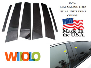 Pillar Posts Trims Covers Real Carbon Fiber Kia Soul 2014 Up 8pcs