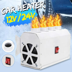 12v Car Fan Air Heater Ptc Heating Defrosting Warm Pure Aluminum Core Silent