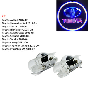 2x Led Car Door Courtesy Laser Ghost Logo Projector Shadow Lights For Toyota