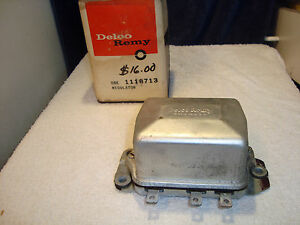 Regulator Vintage Delco Remy 1118713 Nos New Gm Chevy Olds Buick Pontiac F8