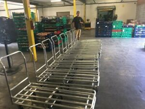 Delivery Utility Stocking Cart Aluminum 6 Wheel Light Weight Caster Master