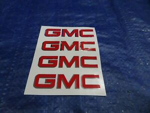 Gmc Truck Mud Flap Guard Decal Emblem Sticker 3 Set Of 4