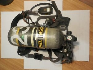Msa Airhawk Industrial Scba 2216 Psi 30 Min Carbon Wrapped Tank Cylinder 12