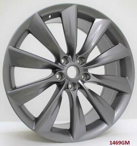 22 Wheels Fits Tesla Model S 85 P85 staggered 22x9 22x10