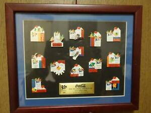 Mint Framed Winter Olympics Coca-Cola pin badge set collection