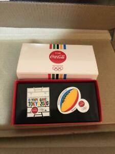 Coca-Cola Olympics Pair Pins badge rugby game Japan 2020