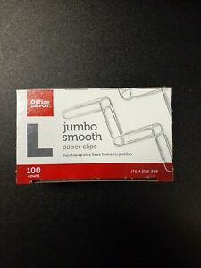 Office Depot Brand Paper Clips Jumbo Silver Box Of 100