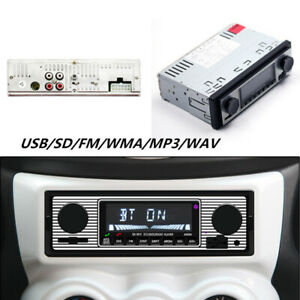 Auto Stereo Fm Retro Radio 12v Player Bluetooth Stereo Mp3 Usb Aux Wav Fm Parts