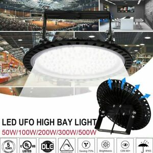 Ufo Led High Bay Light 500w 300w 200w 100w Watt Warehouse Led Shop Light Fixture