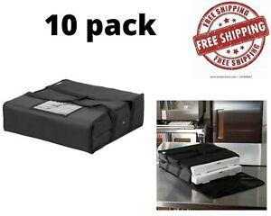 10 Pack Pizza Delivery Bag Insulated Hot Food Delivery Carrier Holds 16 18 Box