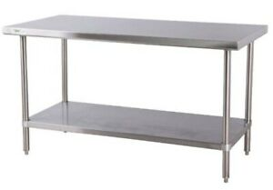 Commercial Work Table With Undershelf Stainless Steel 30 X 72 16 gauge Shelf