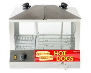 Avantco 100 Hot Dog 48 Bun Hot Dog Steamer Stand Warmer Commercial Concession
