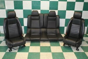 13 14 Mustang Black Coupe Leather Power Drivers Buckets Backseat Seat Set Oem