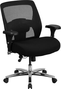 Big Tall 500 Lbs Capacity Black Mesh Executive Office Chair Extra Wide Seat