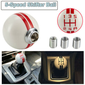 Fits For Ford Mustang Racing Manual Gear Shift Knob Shifter 5 Speed White Red