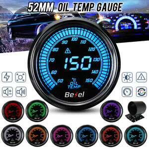 2 52mm Led Digital Car Oil Temp Temperature Gauge Meter 50 150 Multi Color Us
