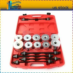 Universal 27pc Press And Pull Sleeve Kit Bush Bearing Removal Insertion Tool Kit