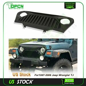 1x Abs Grille Black Fit For 1997 2006 Jeep Wrangler Tj Grill