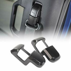 2x Seat Safety Belt Button Decor Cover Trim For Ford F150 2009 2019 Carbon Fiber