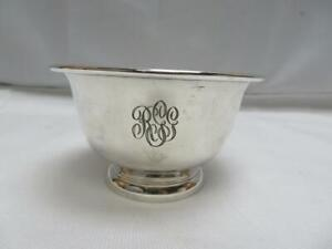 S Kirk Son Small Footed Sterling Silver Bowl Engraved